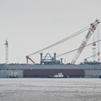 Atwood Advantage on launching barge