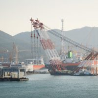 Floating crane and our mud module