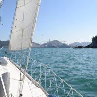 Sailing off Okpo