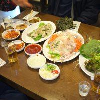 Thanksgiving raw fish dinner